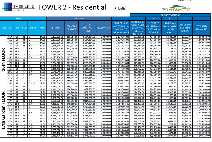 baselinetower2 feb2016 pricelist6
