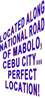 LOCATED ALONG NATIONAL ROAD  OF MABOLO, CEBU CITY... PERFECT LOCATION!